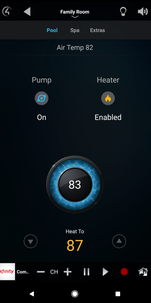 Pool Control integration with Control 4