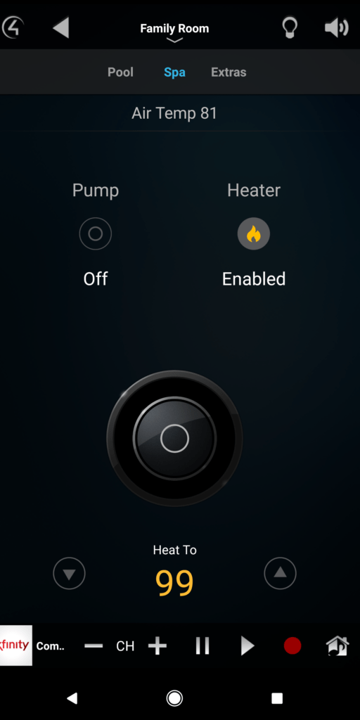 Pentair Spa Control Integration with Control 4