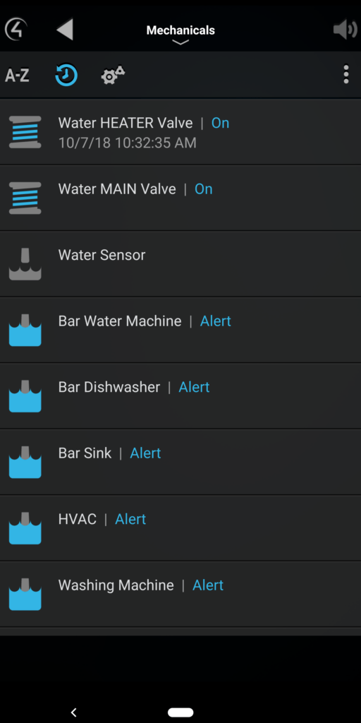 Control 4 Water Valve and Sensors